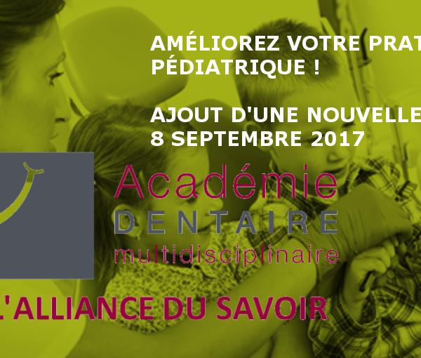 Ajout 2017 : Améliorez votre pratique pédiatrique !