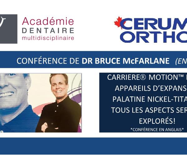Conférence de Dr Bruce McFarlane (en anglais)