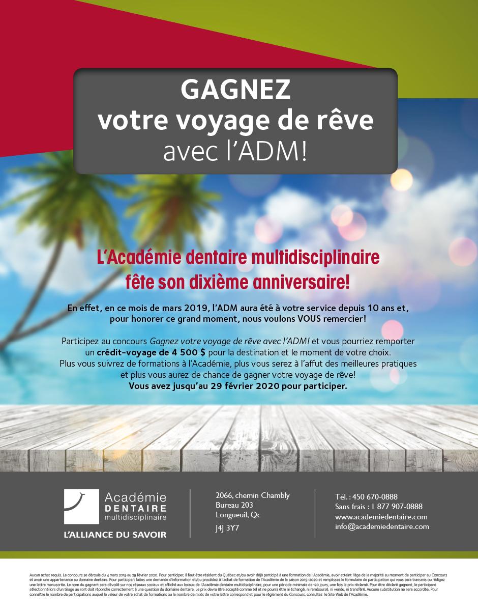 Détails concours Académie Dentaire